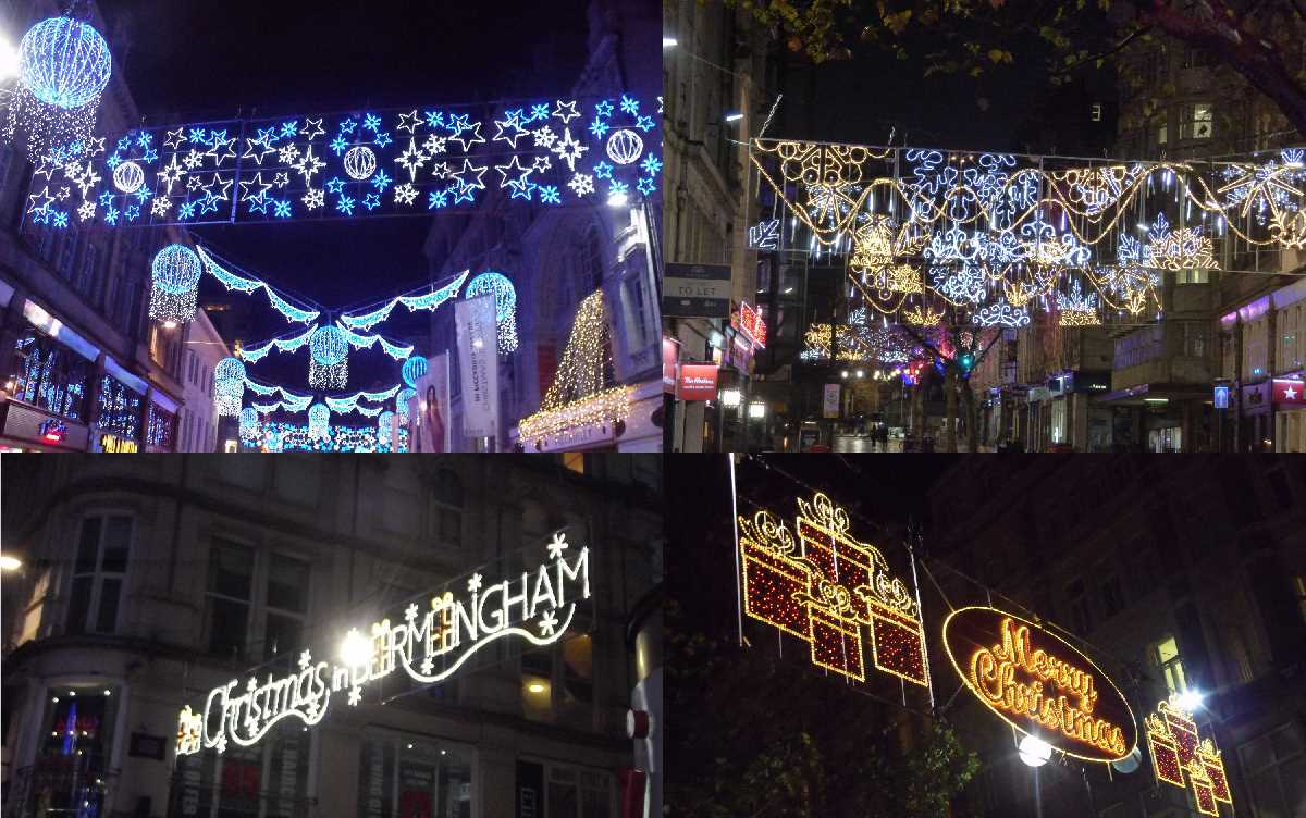 Christmas lights around the Retail BID past and present